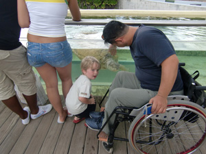 Japanese Wheelchair Traveler Photo Reunion France